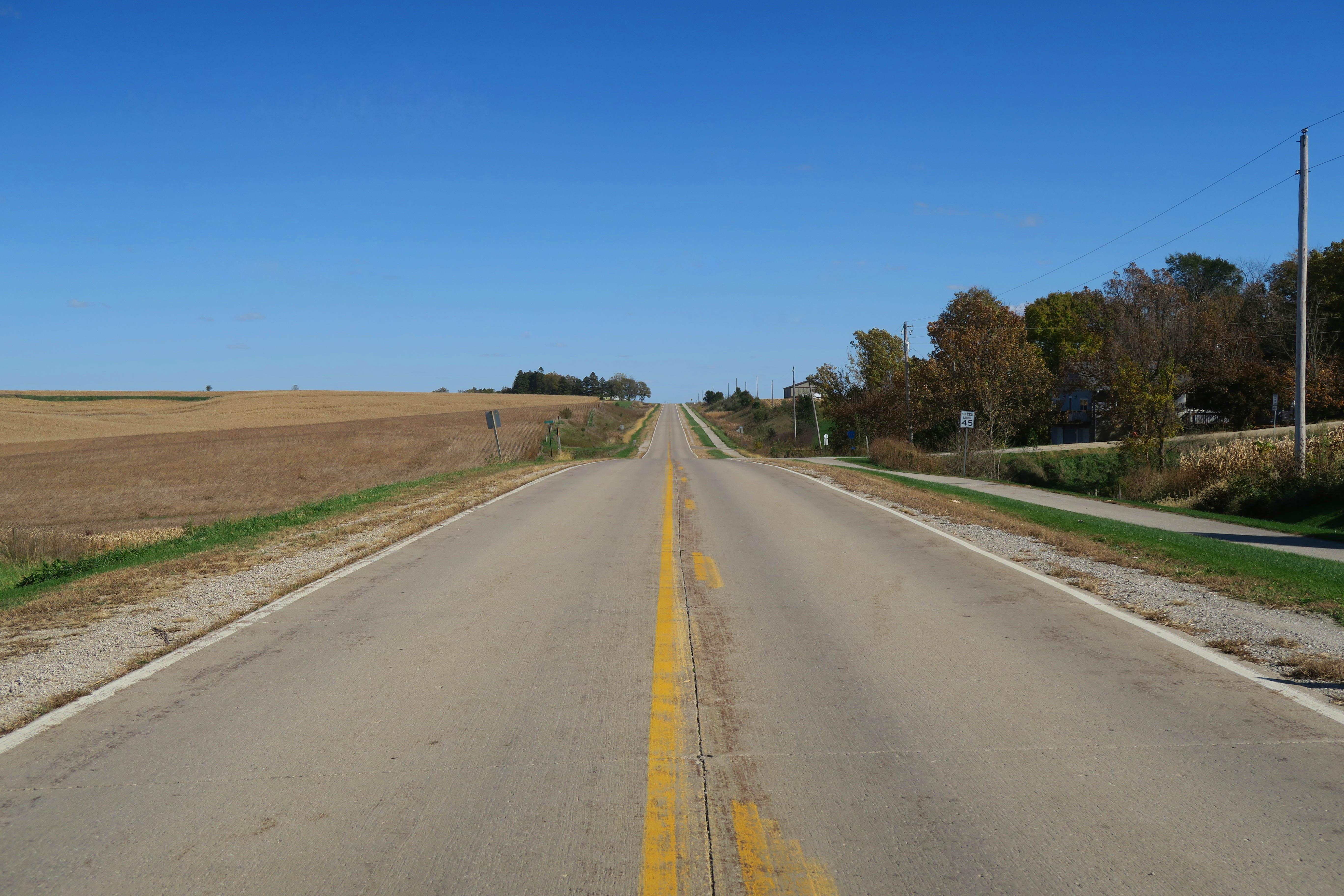 アイオワのとある一本道